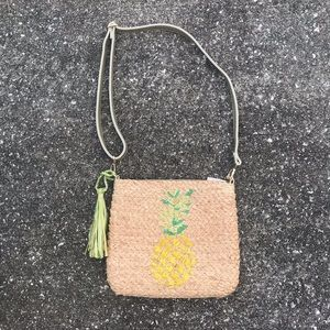 Straw Studios Pineapple Straw Shoulder Bag